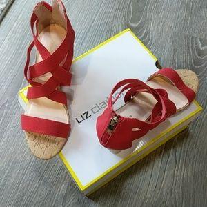 Liz Claiborne Red Sandals